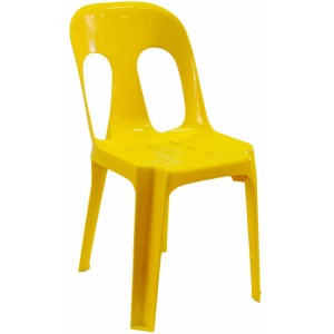 Pipee Slotted Chair, Yellow